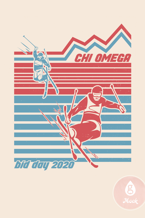 Chi Omega Retro Ski Bid Day