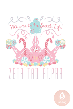 Zeta Tau Alpha Candy Crown