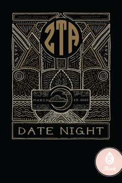 Zeta Tau Alpha Date Night Pattern