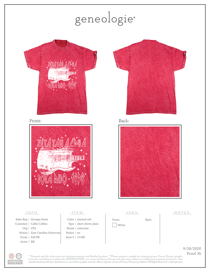 Zeta Tau Alpha Fall PR - Mineral Red $14.75