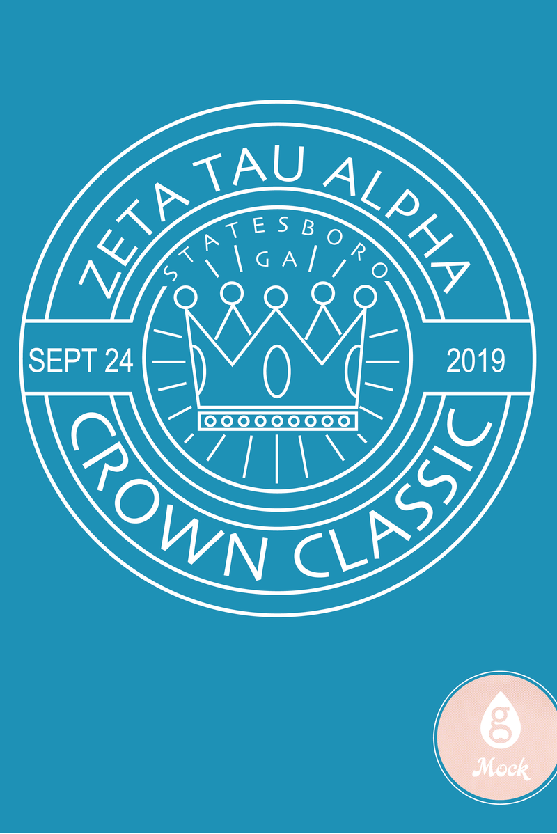 Zeta Tau Alpha Crown Classic Circle