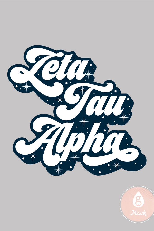 Zeta Tau Alpha PR Cosmic Retro Type