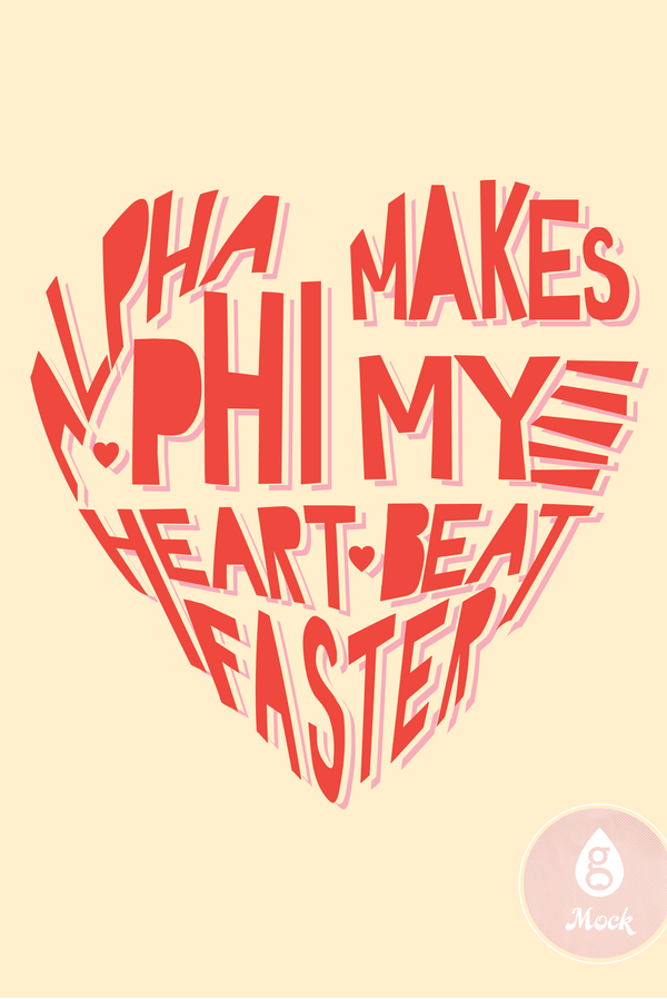 Alpha Phi Words Heart