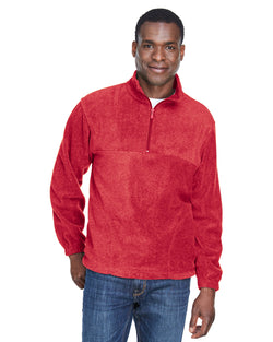 Harriton M980 Adult 8 oz. Quarter-Zip Fleece Pullover