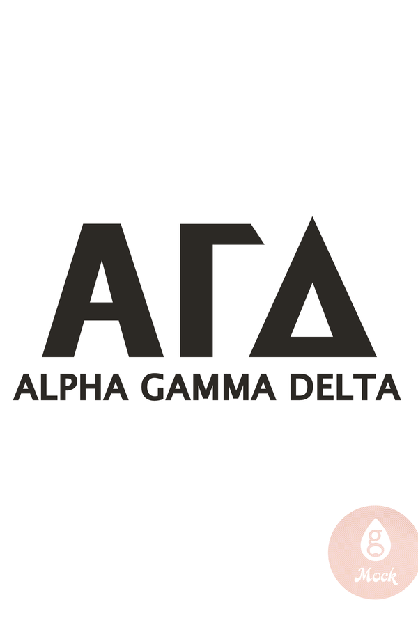 Pressed Cotton Alpha Gamma Delta