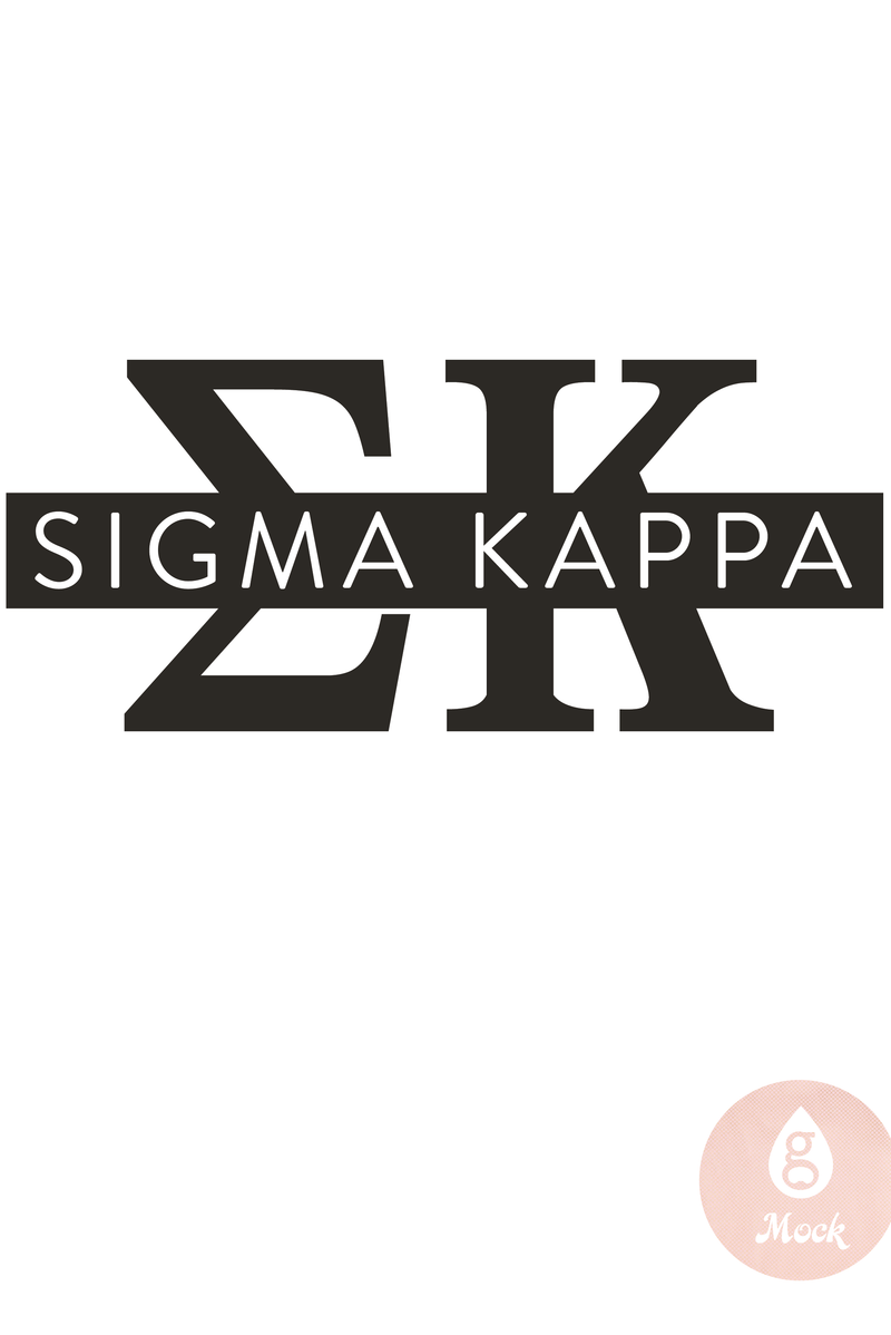 Pressed Cotton Sigma Kappa