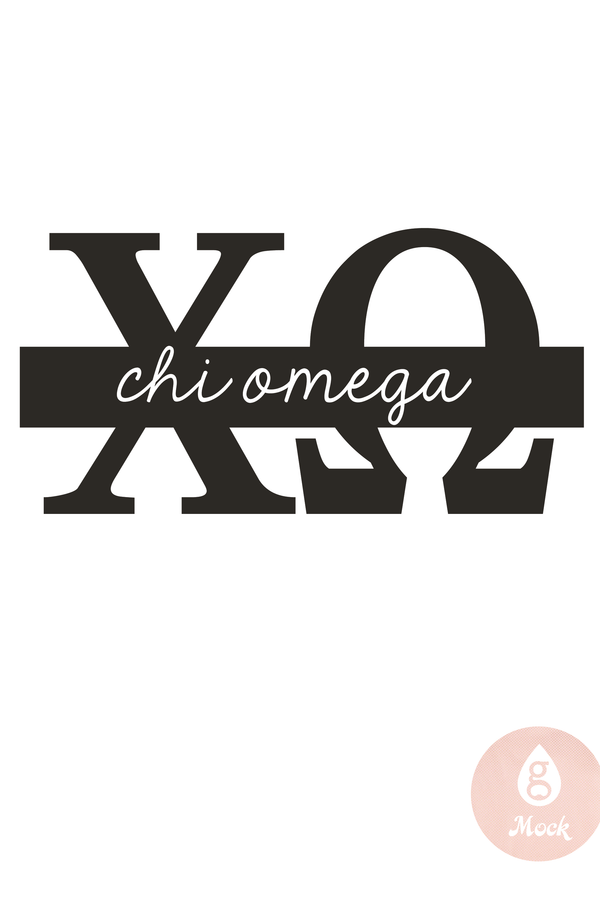 Pressed Cotton Chi Omega