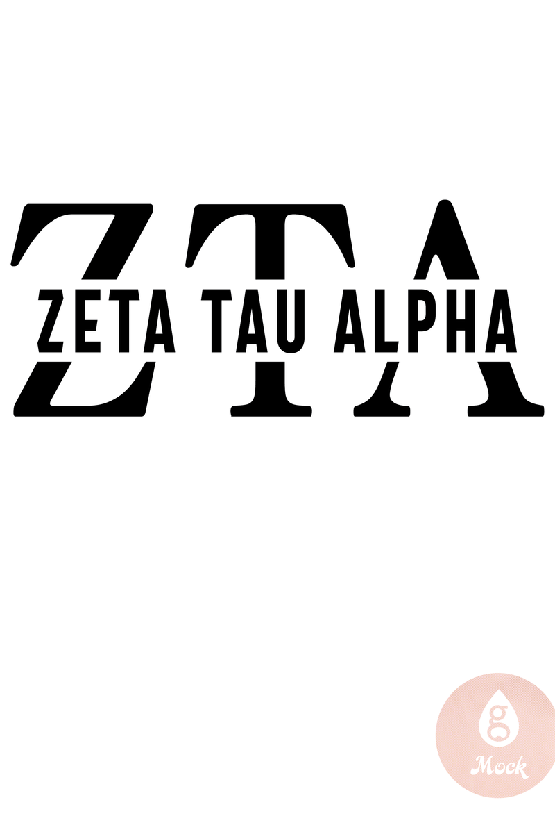 Pressed Cotton Zeta Tau Alpha