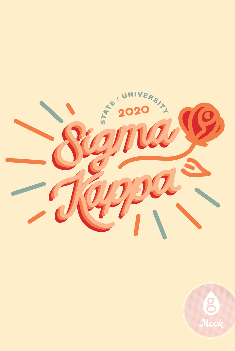 Sigma Kappa Retro Rose