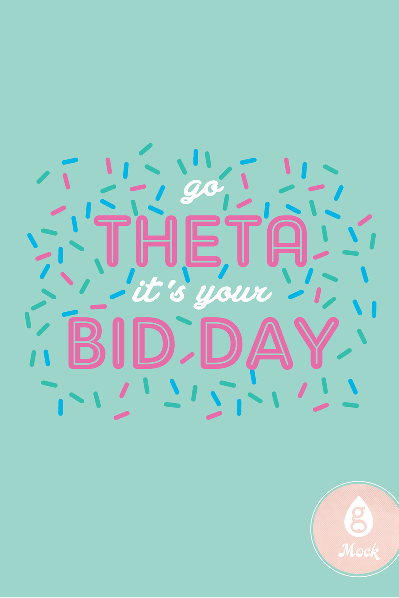 Kappa Alpha Theta Bid Day Sprinkles
