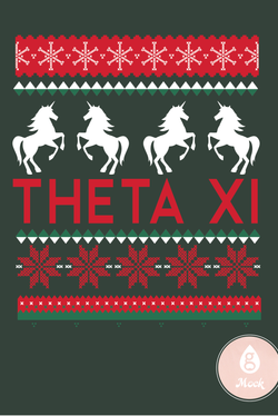 Theta Xi Tacky Sweater Print