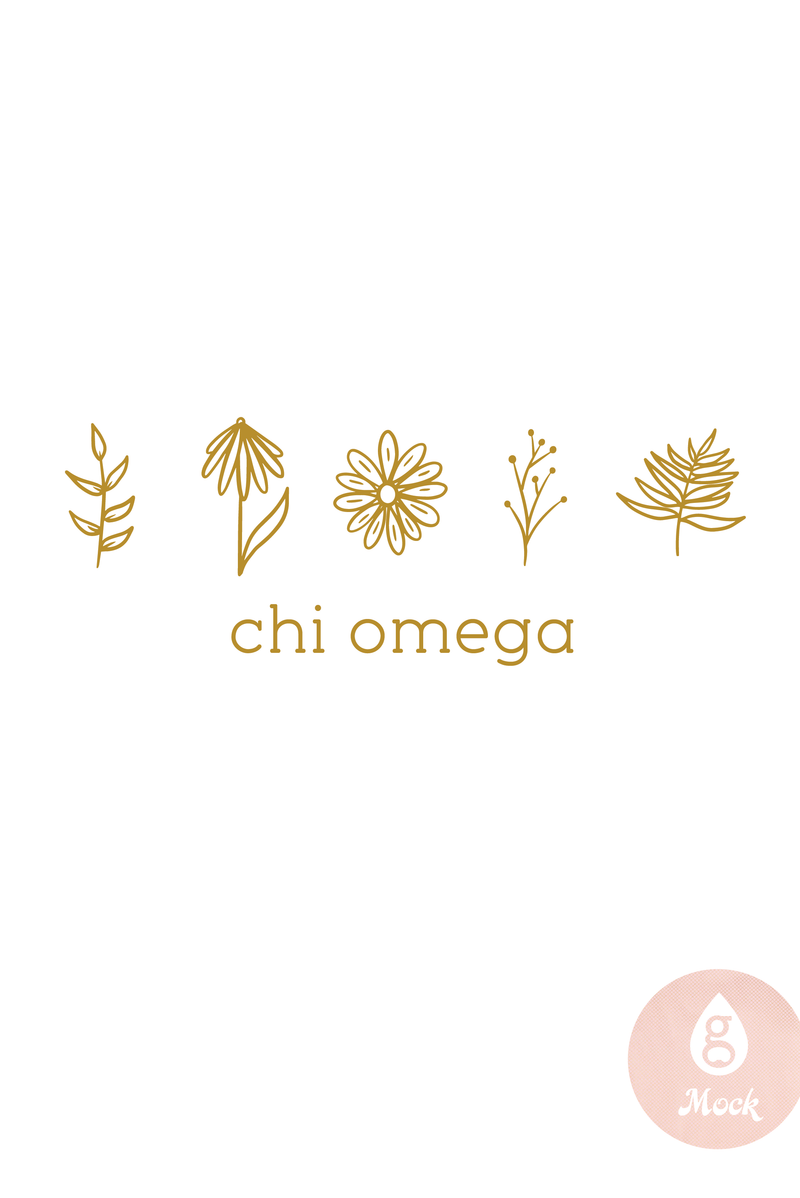 Chi Omega Simple Floral