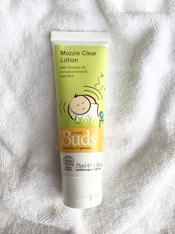 Buds Everyday Organics Mozzie Clear Lotion 75ml - certified organic by ECOCERT