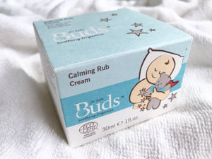 Buds Soothing Organics Calming Rub Cream 30ml - certified organic by ECOCERT