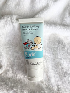 Buds Soothing Organics Super Soothing Rescue Lotion 50ml - certified organic by ECOCERT