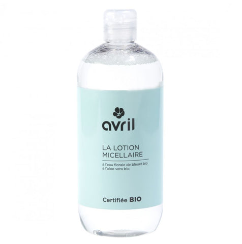 AVRIL CLEANSING MICELLAR LOTION 500ml - certified organic by ECOCERT