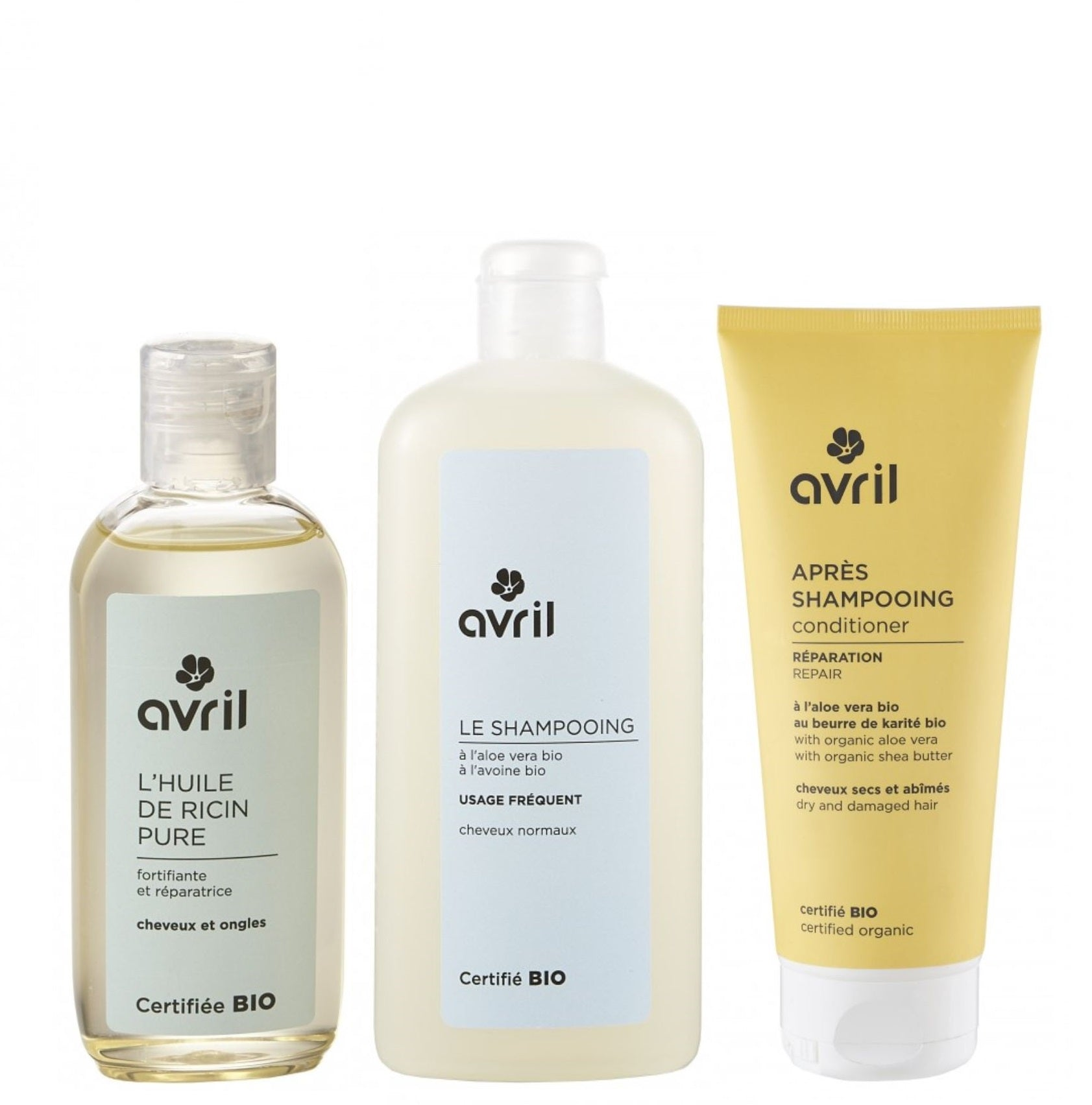 AVRIL HEALTHY HAIR CARE PROMO SET-certified organic by Ecocert