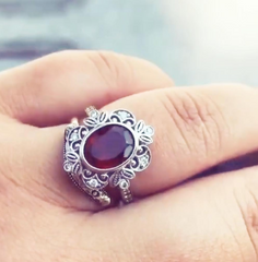 unique vintage ruby engagement ring