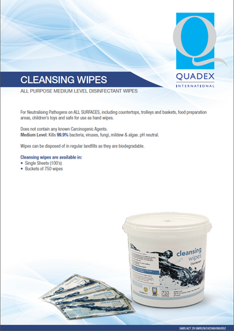 Cleansing Wipes - Quadex /general