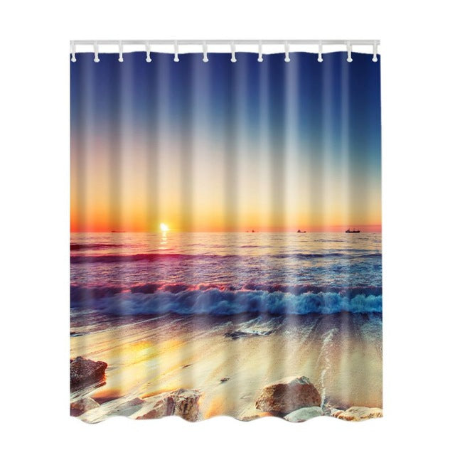 Decorative Landscape Shower Curtain