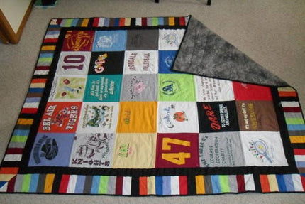 DIY T-Shirt Quilt ( No Sewing! )