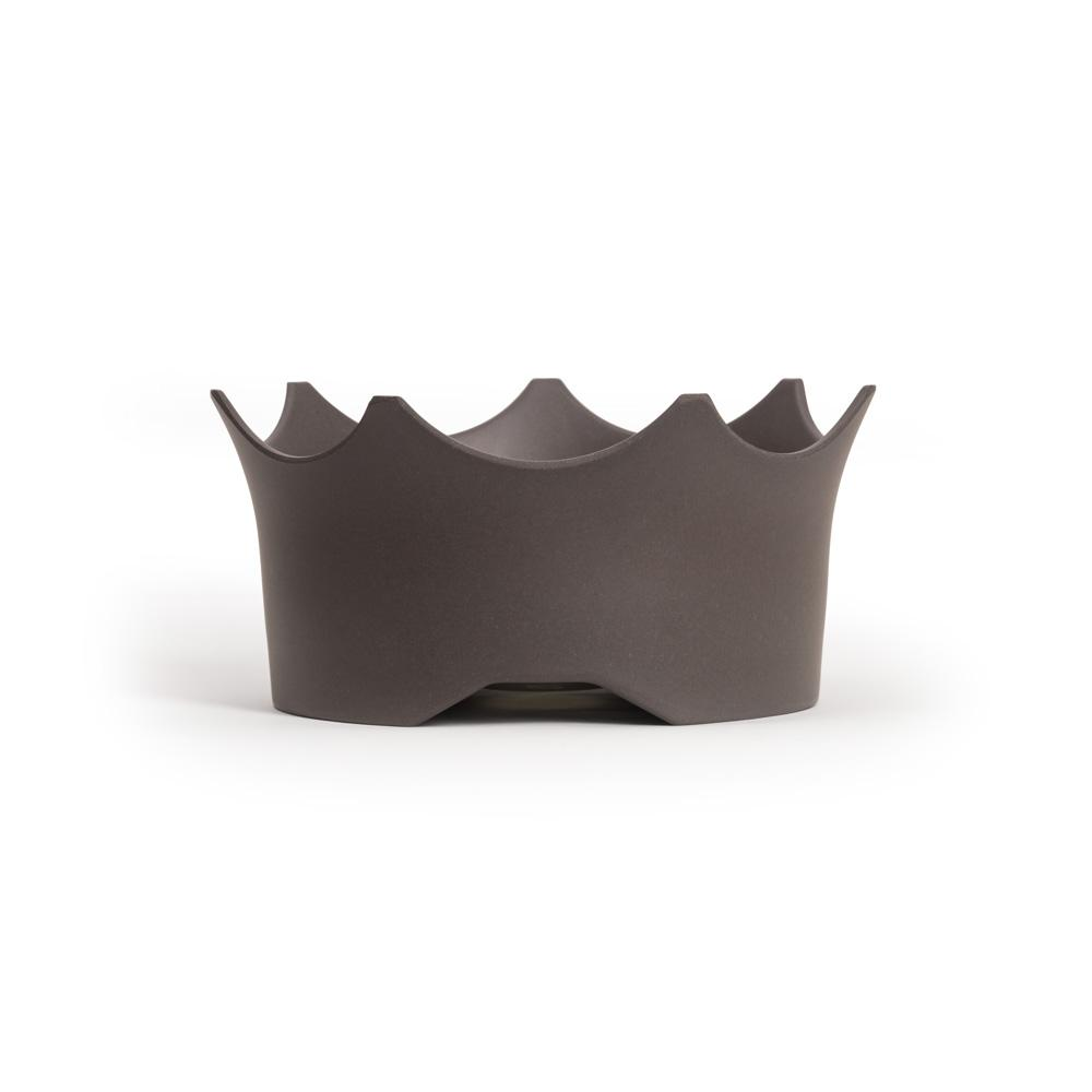 CROWNJUWEL GEM-WATER PET BOWL BY VITAJUWEL - SLATE GREY