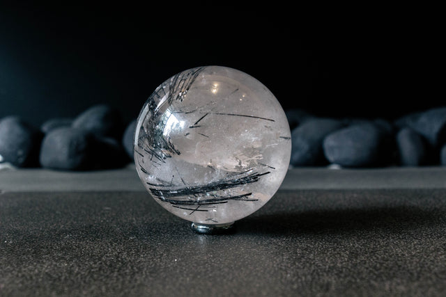 Rutilated Quartz Orb
