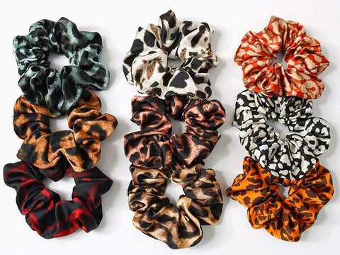 scrunchies, scrunchie, scrunchy, hair accessories, leopard scrunchie, hair ties