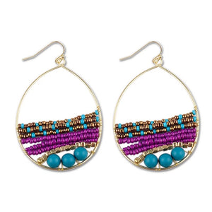 Beaded Tear Drop Earrings