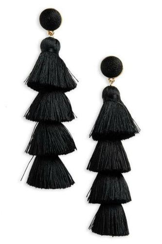 tassel earrings, layer earrings, fashion earrings