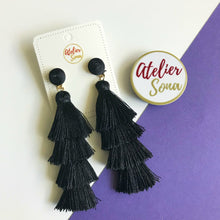 """Barcelona Beats"" Earrings - Black"