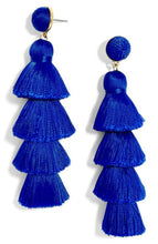 """Barcelona Beats"" Earrings - Royal Blue"