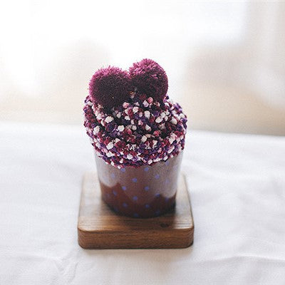 Cupcake Pom Pom Fuzzy Socks - Purple