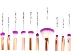10 Piece Mermaid/Fishtail Make Up Brush Set