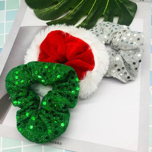 Christmas Scrunchies - Set of 3