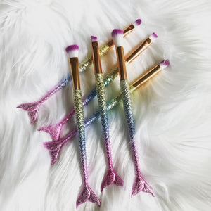 6 Piece Mermaid/Fishtail Make Up Brush Set