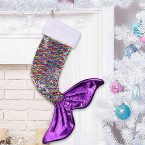 Mermaid Tail Sequin Christmas Stocking