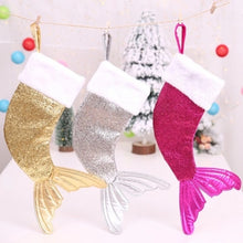 Mermaid Tail Sparkly Christmas Stocking