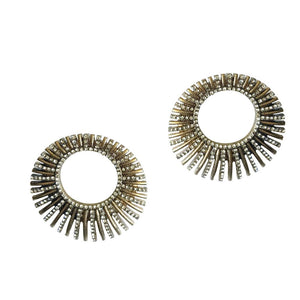 """Washington Monumental"" Pave Hoop Earrings"