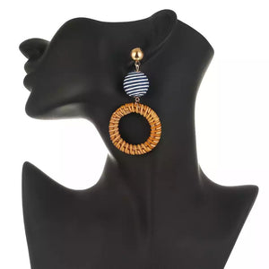Bon Bon Rattan Earrings