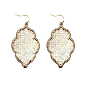 """Marrakesh Lantern"" Filigree Earrings - Rose Gold"