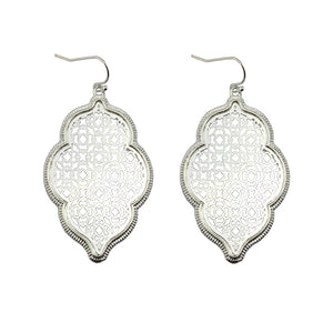 """Marrakesh Lantern"" Filigree Earrings - Silver"