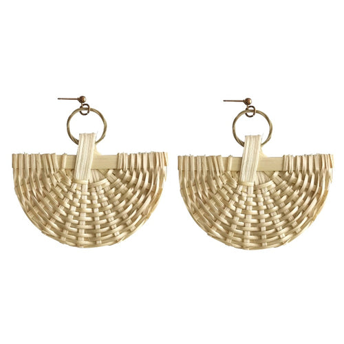 Arc Straw Earrings