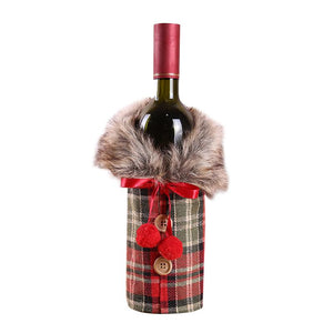 Holiday Wine Bottle Covers - Set of 2