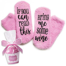 """If You Can Read This"" Fuzzy Socks"