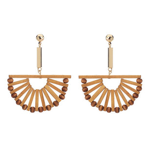 Wooden Spoke Earrings