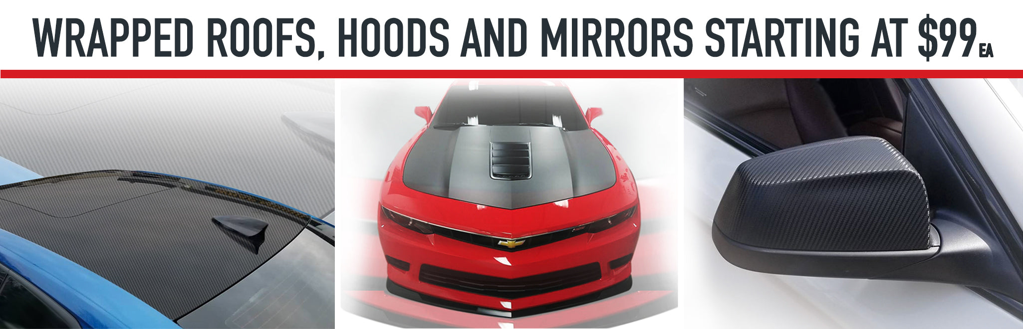 Roof Hood and mirror wraps