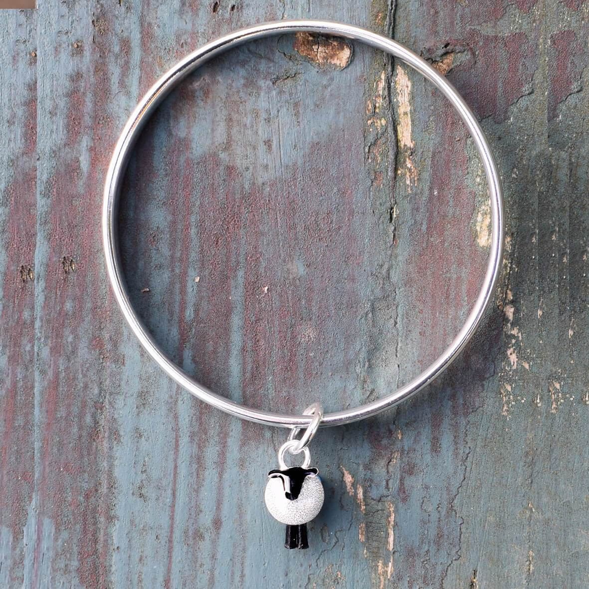 Silver Sheep Bangle