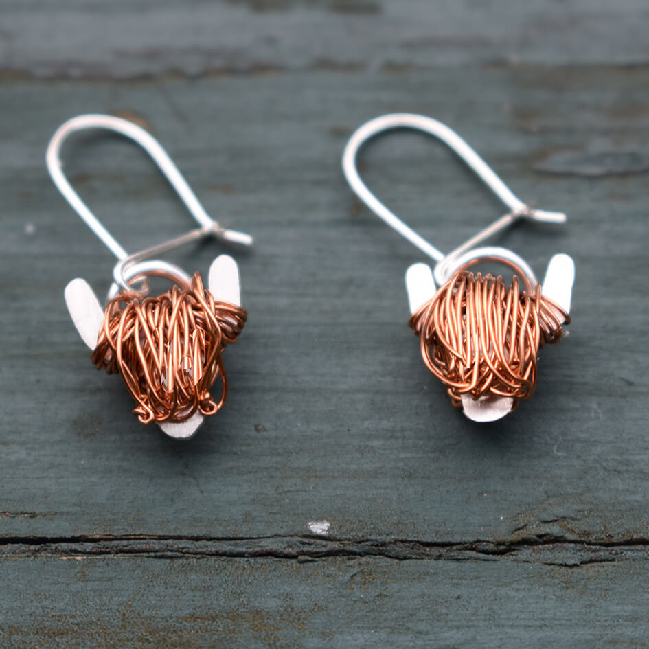 New Highland Cow drop earrings: Perfect Scottish gift for her!