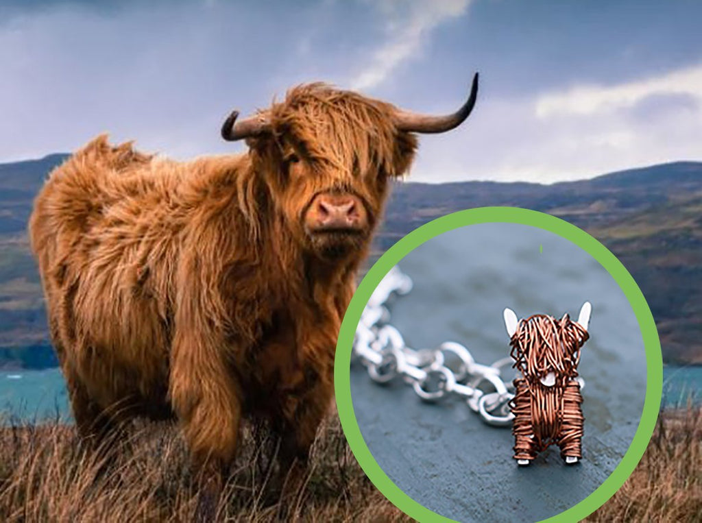Highland Cow jewellery:  Quality Scottish jewellery gifts for her